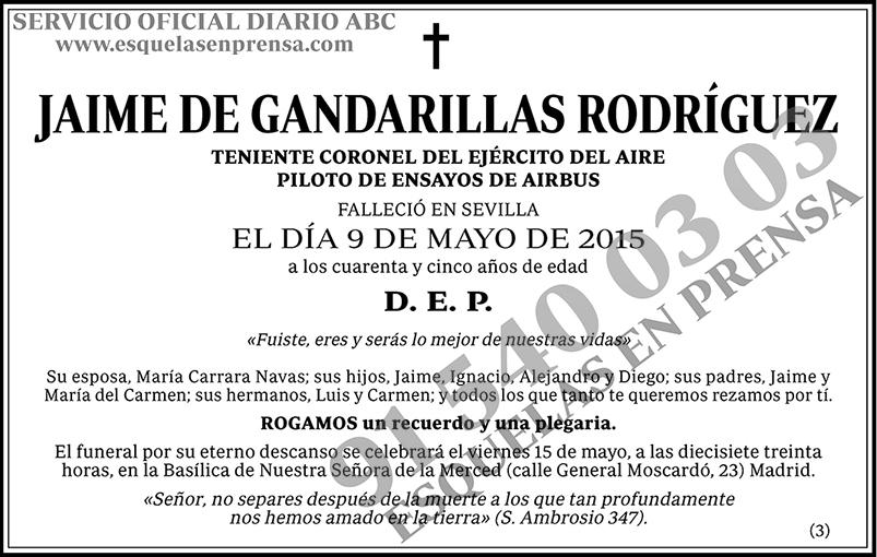 Jaime de Gandarillas Rodríguez